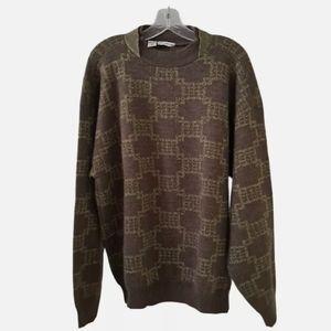 Giorgio Armani Pull on Sweater XL geometric